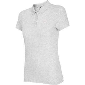 Textil Ženy Trička s krátkým rukávem 4F NOSH4 TSD007 Biały Melanż Bílé,Šedé