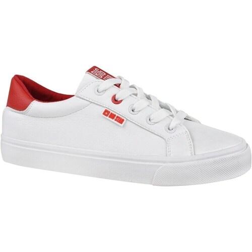 Boty Ženy Nízké tenisky Big Star EE274311 Bílé, Červené
