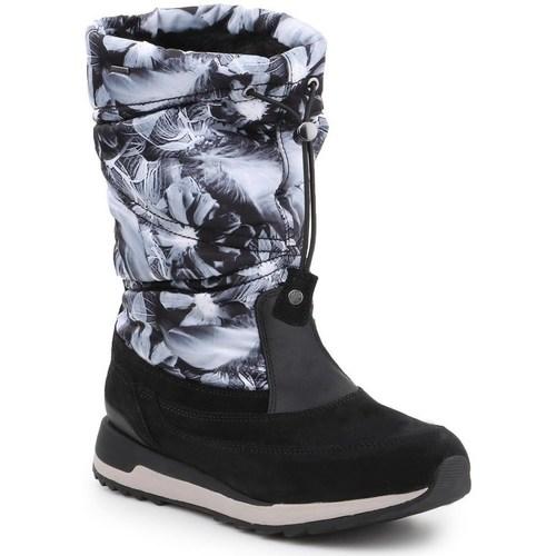 Boty Ženy Zimní boty Geox D Aneko B Černé, Šedé