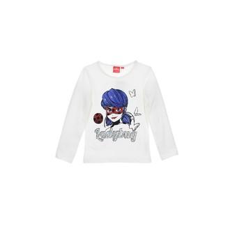 Textil Dívčí Trička s dlouhými rukávy TEAM HEROES MIRACULOUS LADYBUG Bílá