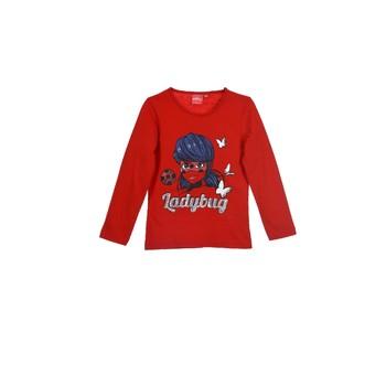 Textil Dívčí Trička s dlouhými rukávy TEAM HEROES MIRACULOUS LADYBUG Červená