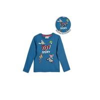 Textil Chlapecké Trička s dlouhými rukávy TEAM HEROES TOY STORY Modrá