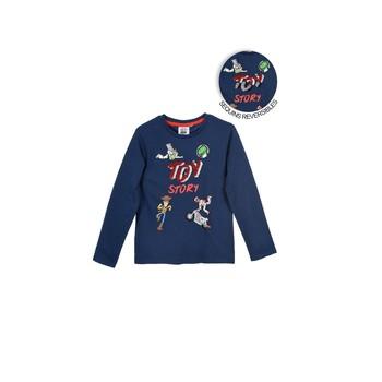 Textil Chlapecké Trička s dlouhými rukávy TEAM HEROES TOY STORY Tmavě modrá