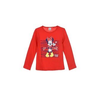 Textil Dívčí Trička s dlouhými rukávy TEAM HEROES MINNIE Červená