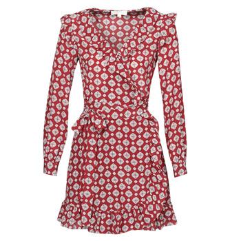 Textil Ženy Krátké šaty MICHAEL Michael Kors LUX PINDOT WRAP DRS Bordó