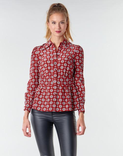 Textil Ženy Halenky / Blůzy MICHAEL Michael Kors LUX PINDOT MED TOP Bordó