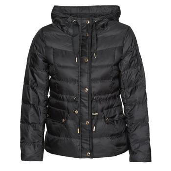 Textil Ženy Prošívané bundy MICHAEL Michael Kors LOGO GROSGRAIN PUFFER Černá