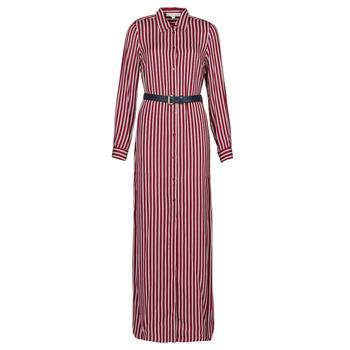 Textil Ženy Společenské šaty MICHAEL Michael Kors WARM PLAYFL SHIRT DR Bordó / Bílá / Tmavě modrá