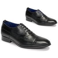 Boty Muži Šněrovací společenská obuv Azzaro LITCHI Černá