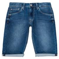 Textil Chlapecké Kraťasy / Bermudy Pepe jeans CASHED SHORT Modrá