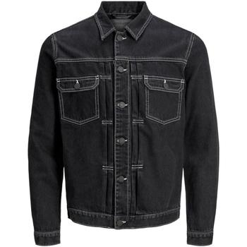 Textil Muži Riflové bundy Jack & Jones 12169080 JJIWILLIAM JJJACKET AM 985 BLACK DENIM Negro
