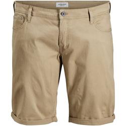 Textil Muži Kraťasy / Bermudy Jack & Jones 12168172 JJIRICK ORG SHORT AKM 799 PS KELP Beige