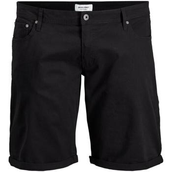 Textil Muži Kraťasy / Bermudy Jack & Jones 12168172 JJIRICK ORG SHORT AKM 799 PS BLACK Negro