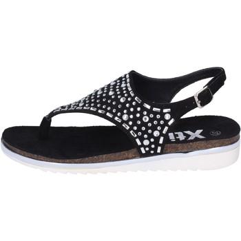 Boty Ženy Sandály Xti sandali camoscio sintetico strass Nero