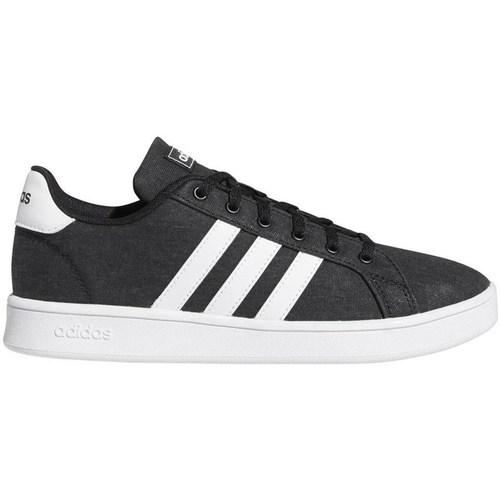 Boty Děti Nízké tenisky adidas Originals Grand Court K Bílé, Černé