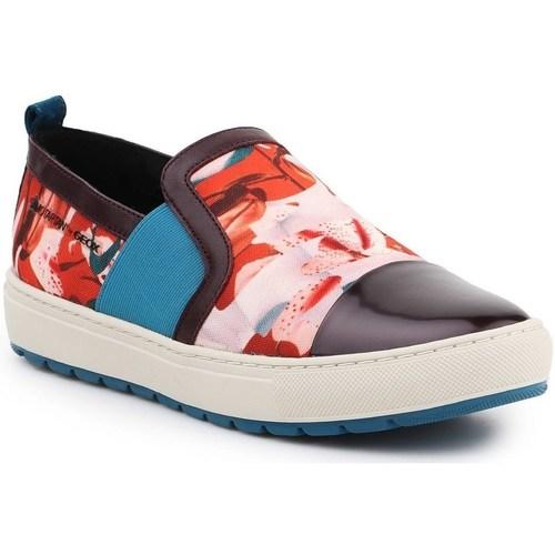 Boty Ženy Street boty Geox D Breeda Červené, Modré, Hnědé