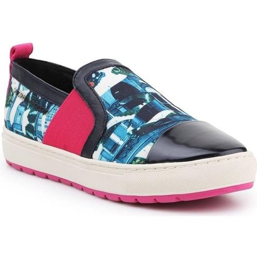Boty Ženy Street boty Geox D Breeda Černé, Červené, Modré