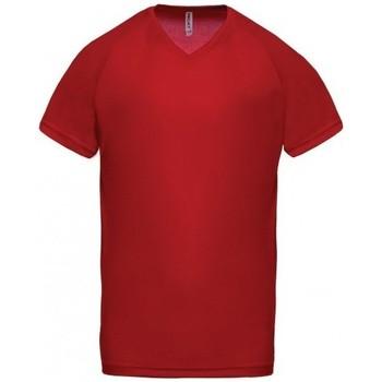 Textil Muži Trička s krátkým rukávem Proact T-Shirt Col V  Sport rouge