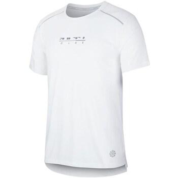 Textil Muži Trička s krátkým rukávem Nike Rise 365 Bílé
