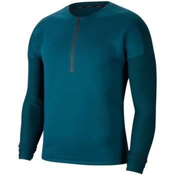 Textil Muži Trička s dlouhými rukávy Nike Tech Pack Tmavomodré, Bledě zelené, Tyrkysové
