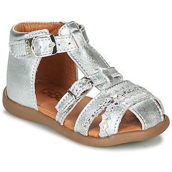 Boty Dívčí Sandály GBB ALIDA Stříbrná