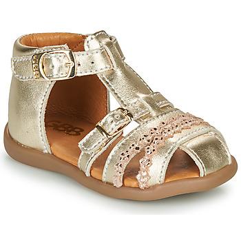 Boty Dívčí Sandály GBB ALIDA Zlatá