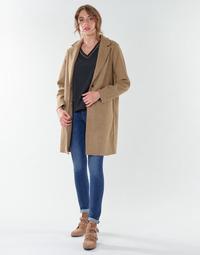 Textil Ženy Kabáty Only ONLCARRIE BONDED Velbloudí hnědá