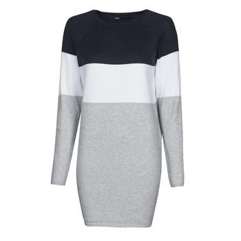 Textil Ženy Krátké šaty Only ONLLILLO Tmavě modrá / Bílá / Šedá