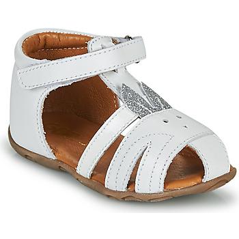 Boty Dívčí Sandály GBB FADIA Bílá-stříbrná