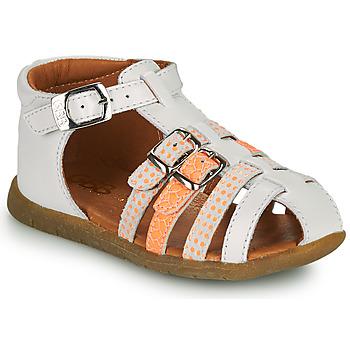Boty Dívčí Sandály GBB PERLE Bílá / Oranžová