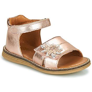 Boty Dívčí Sandály GBB SATIA Zlatá / Růžová