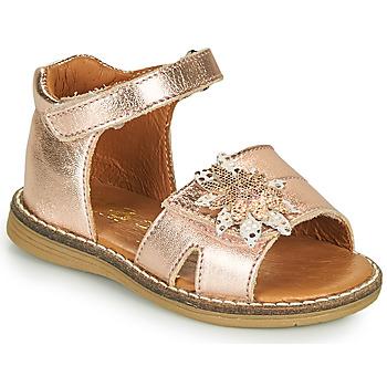 Boty Dívčí Sandály GBB SATIA Růžová / Zlatá