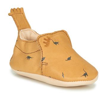 Boty Děti Papuče Easy Peasy BLUMOO Zlatohnědá