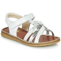 Boty Dívčí Sandály GBB SUMY Bílá / Stříbrná