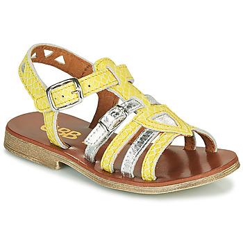 Boty Dívčí Sandály GBB FANNI Žlutá