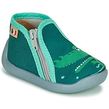 Boty Dívčí Papuče GBB APOMO Zelená