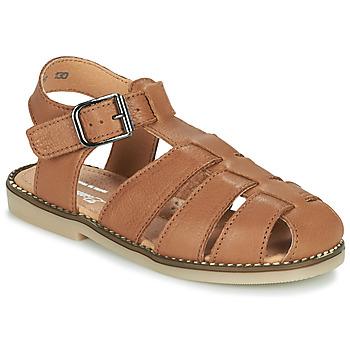 Boty Chlapecké Sandály Little Mary BREHAT Hnědá