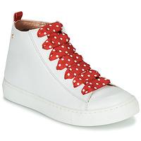 Boty Dívčí Kotníkové tenisky Little Mary SASHA (VE014) Bílá / Červená