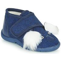 Boty Děti Papuče Little Mary KOALAVELCRO Modrá
