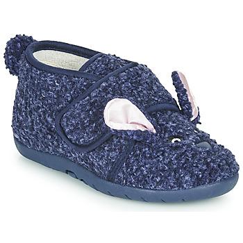 Boty Děti Papuče Little Mary LAPINVELCRO Modrá