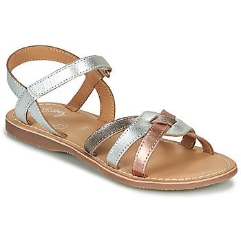 Boty Dívčí Sandály Little Mary LIGHT Stříbrná        / Bronzová / Růžová / Zlatá
