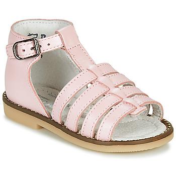 Boty Dívčí Sandály Little Mary HOLIDAY Růžová