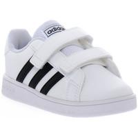 Boty Chlapecké Nízké tenisky adidas Originals GRAND COURT I Bianco