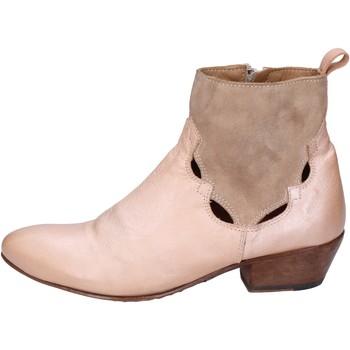 Boty Ženy Polokozačky Moma BK110 Růžová