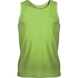 Textil Muži Tílka / Trička bez rukávů  Proact Débardeur  Sport vert fluo