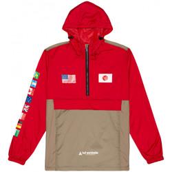 Textil Muži Větrovky Huf Jacket flags anorak Červená