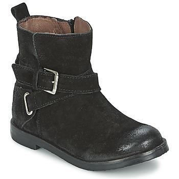 Boty Dívčí Kotníkové boty Aster NINON Černá