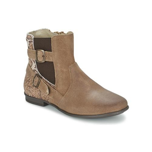 Boty Dívčí Kotníkové boty Aster DESIA Šedobéžová