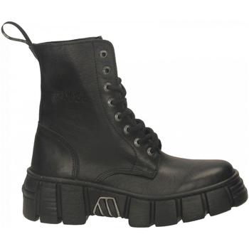 Boty Ženy Kotníkové boty New Rock M-WALL026NBASA-C2 LUXOR nero