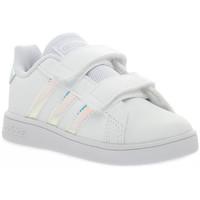 Boty Dívčí Nízké tenisky adidas Originals GRAND COURT I Bianco